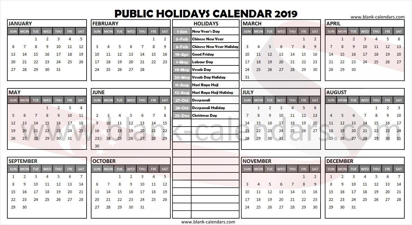 Singapore Holidays 2019 Calendar Holiday calendar