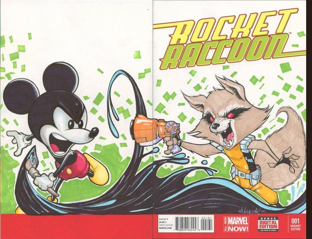 Marvel Comics Rocket Raccoon 1 blank Variant cover original