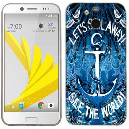 outlet store 067e9 7fdf3 Mundaze Sail Away Anchor Phone Case Cover for HTC Bolt/10 Evo in ...