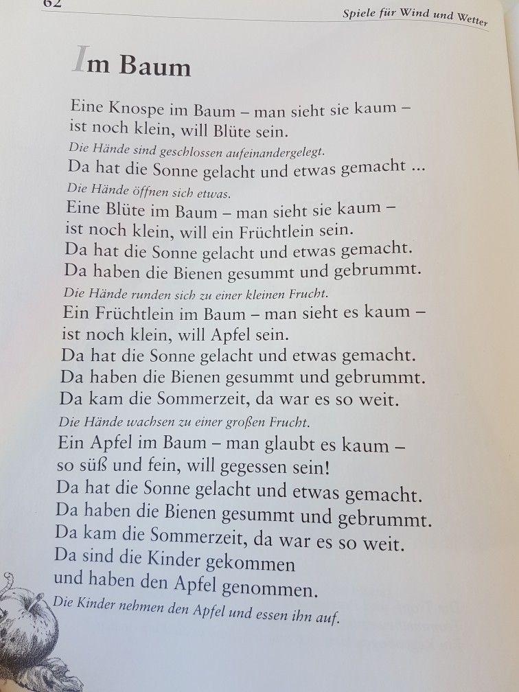 Gedicht ein baum