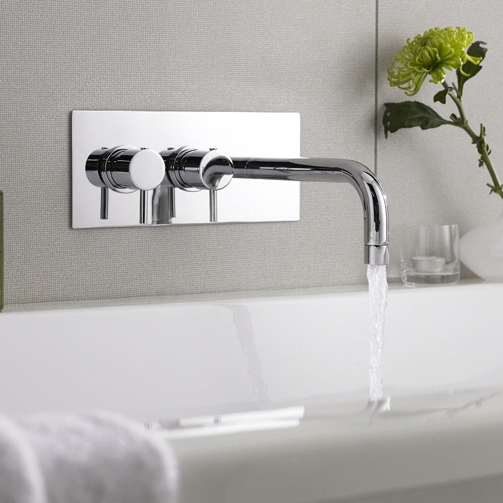 Quest Thermostatic Wall Mounted Tub Filler Faucets