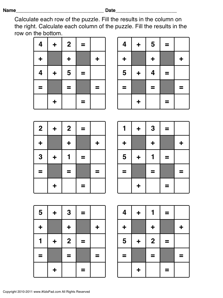 easy math games worksheets @Katie Schmeltzer Korza @Sarah Chintomby Richard  Ford   Maths puzzles [ 1024 x 768 Pixel ]