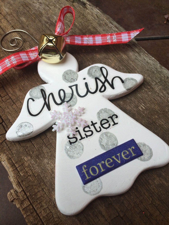 i love my sister christmas ornament sister christmas ornament sister christmas gift best - What To Get My Sister For Christmas