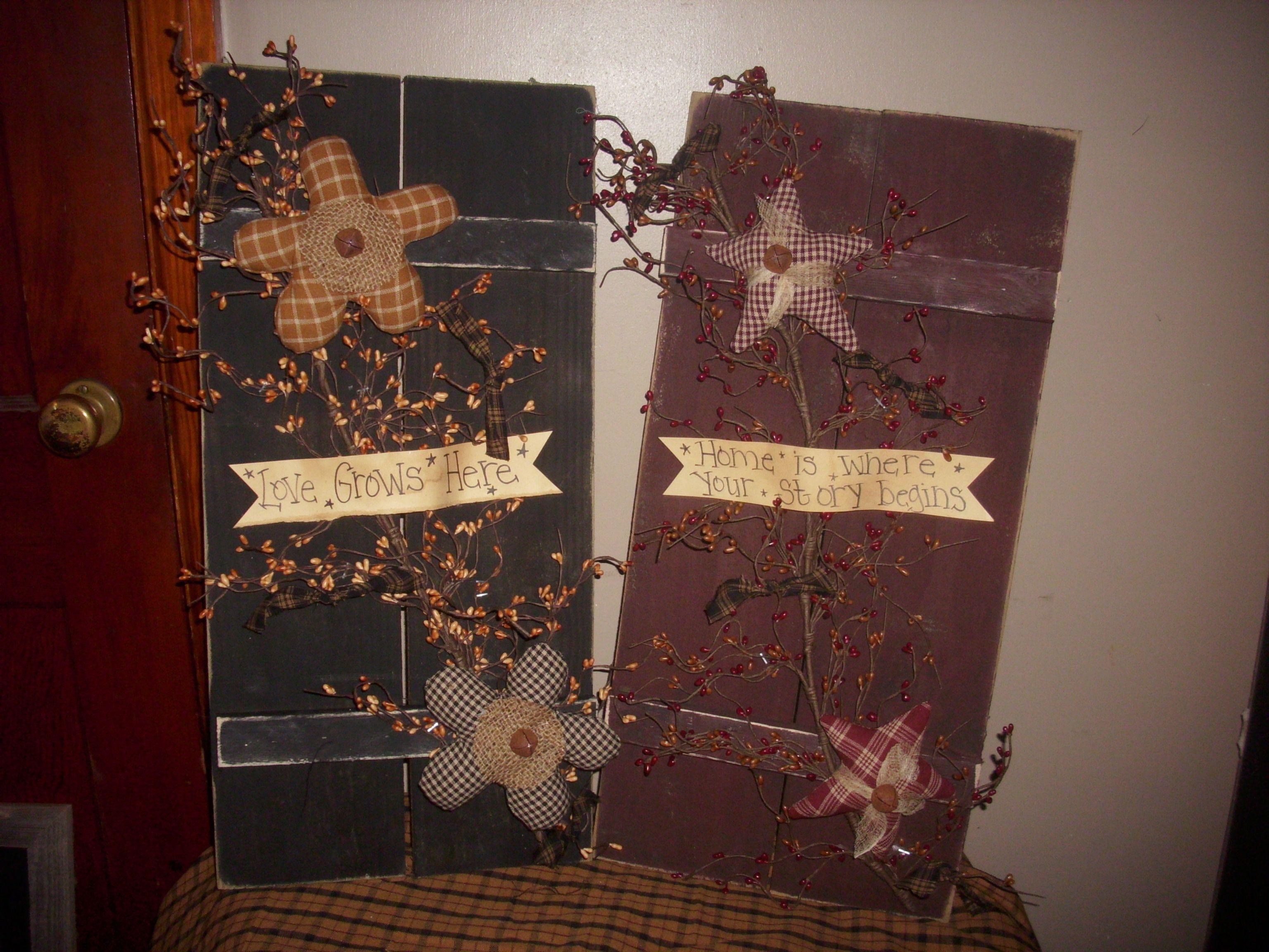 Pinterest Craft Ideas: Primitive Craft Ideas