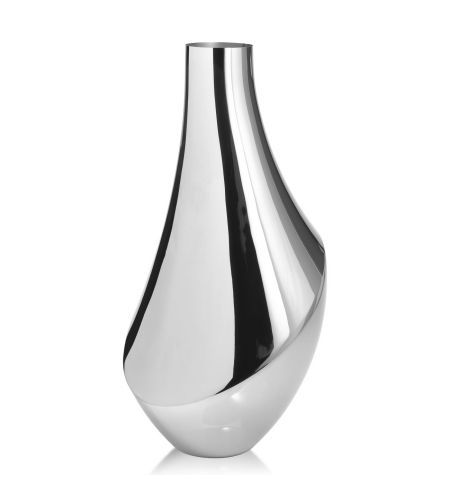 Flora Stainless Steel Large Vase By Georg Jensen Silver