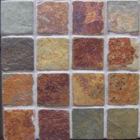 Copper Rust 2x2 Mosaic Tile Slate Tile Natural Stone Tile Slate Tile Floor