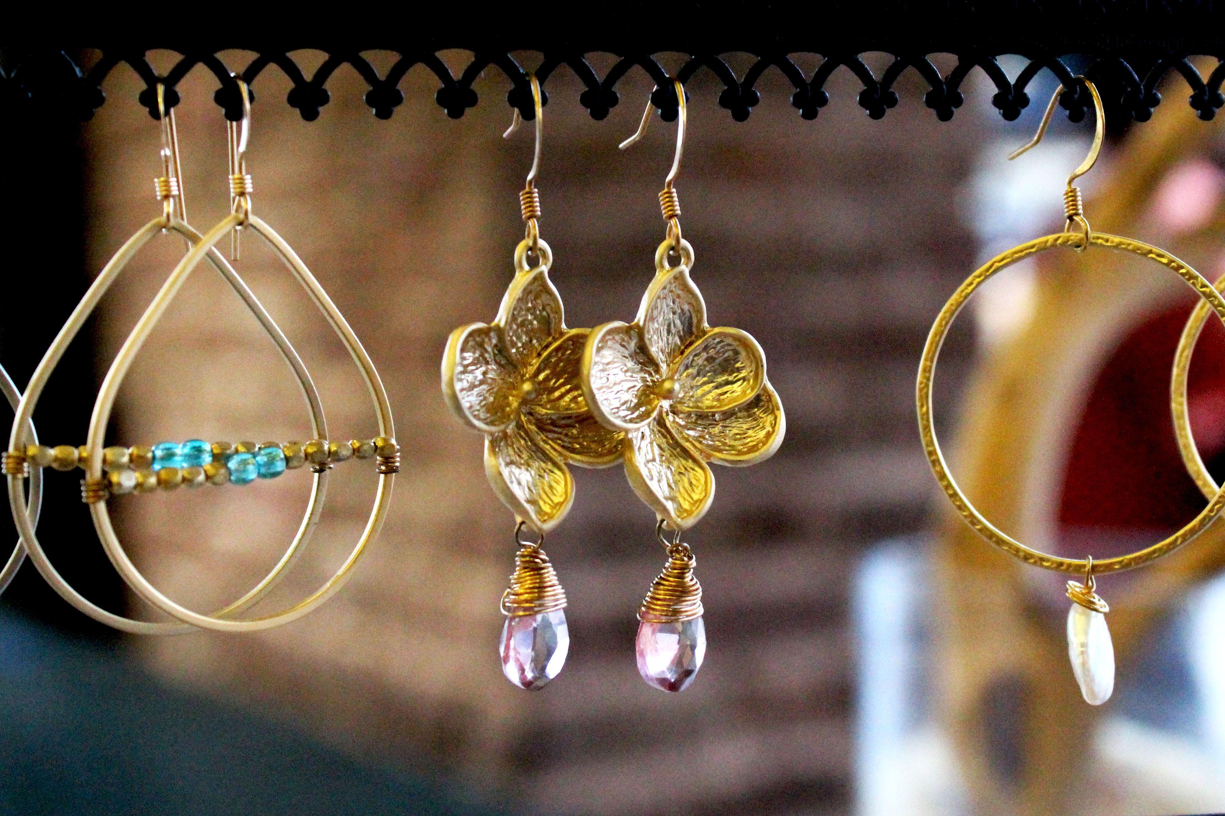 Latest earrings designs by JK Designs Jewelry Chucktown