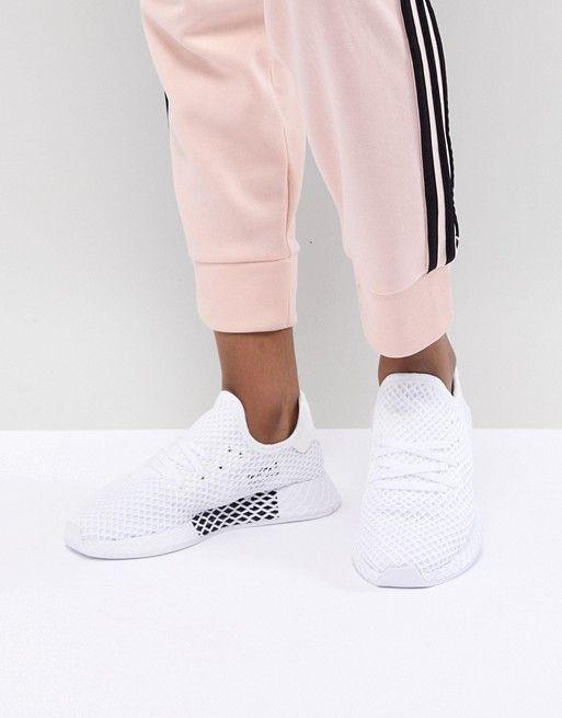 adidas originali adidas originali deerupt scarpe bianche