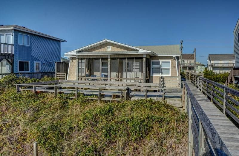 Ellington By The Sea 1159 N Anderson Blvd Oceanfront Cottage Topsail Beach House Styles