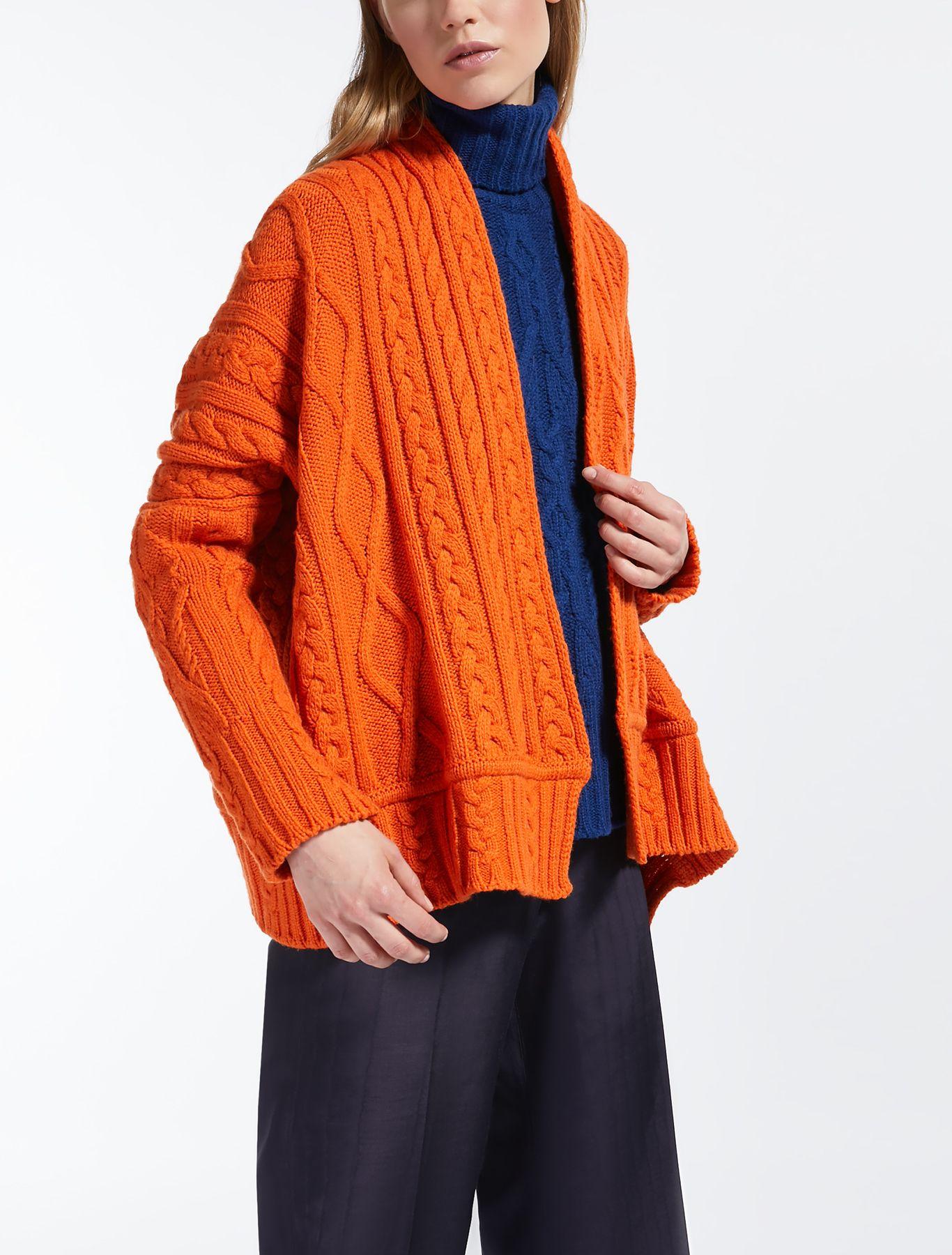 06df39008e Cardigan in filato di lana, arancio - EBANO | knit it now ...