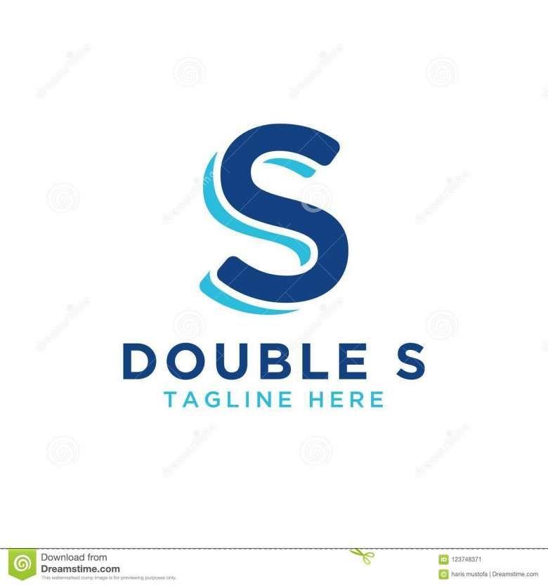 10 Blue Double S Logo S Logo Design Letter Logo Design Geometric Logo