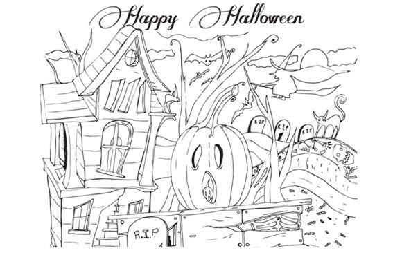 Free printable coloring pages for adults halloweencoloring pages