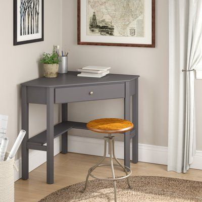 Three Posts Edinburg Corner Desk Wayfair Domashnij Ofis Interer Idei Dlya Doma