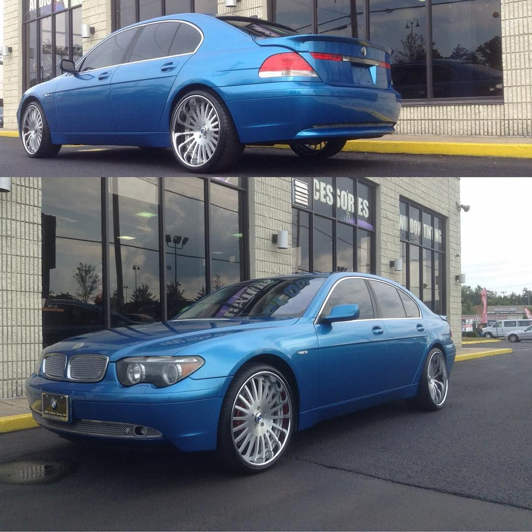 Wrap Game Serious Over Here Bmw 7 Series In 3m Gloss Blue