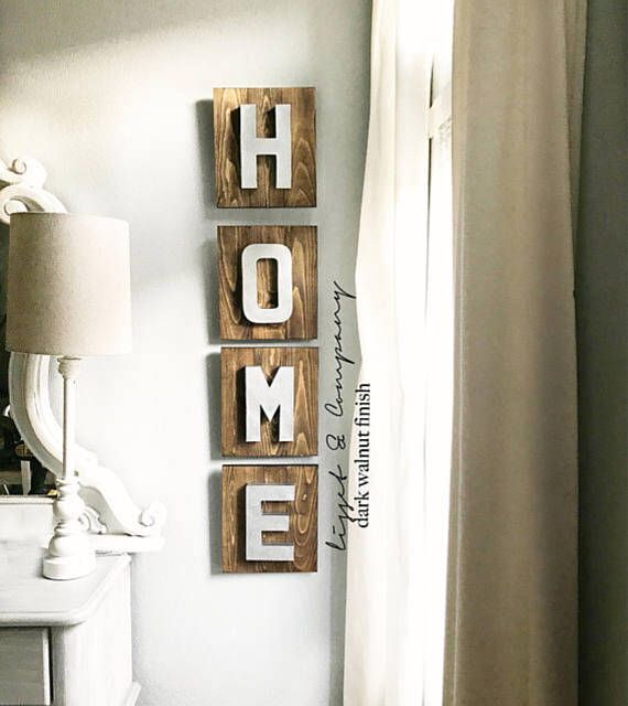 rustic home sign, home sign wood, home sign vertical, home decor ...