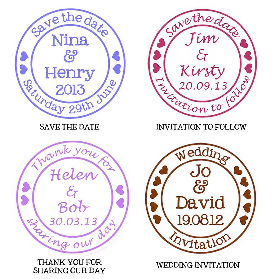 Round Gold Foil Stickers for wedding invites - Personalised wedding stickers,  round stickers, wedding