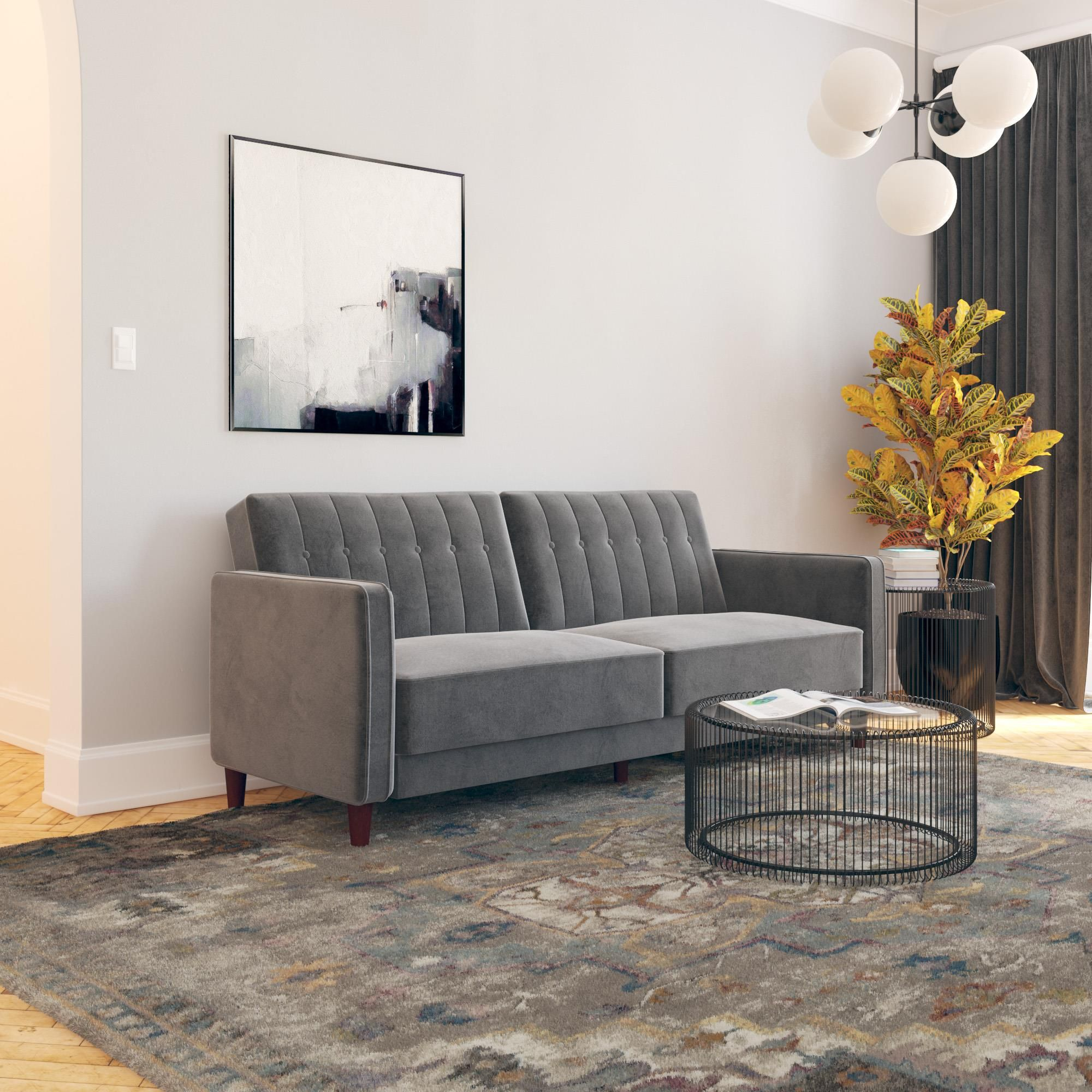 Home Tufted sofa, Sofa bed, Futon couch