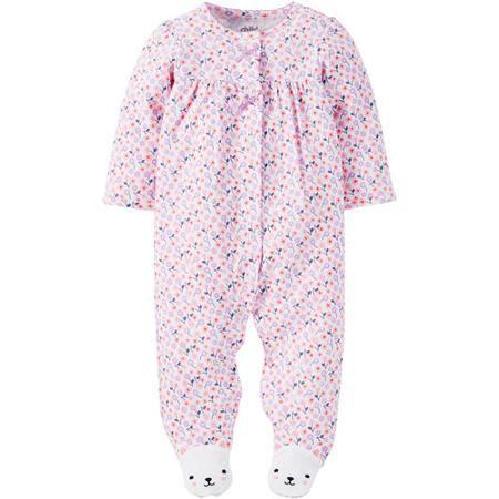1b896b661 Child of Mine made by Carter's Newborn Baby Girl Sleep n' Play - Walmart.com
