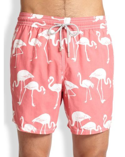 e480e9d313 Men's Pink Moorea Flamingo Swim Trunks |