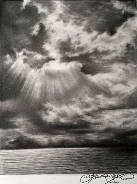 Cloud Pencil Drawing : cloud, pencil, drawing, Drawing, Skies, Graphite, Drawings,, Cloud