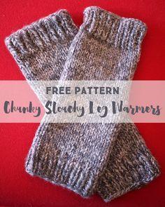 Free Knitting Pattern: Chunky Slouchy Leg Warmers Leg warmers and Knitting ...