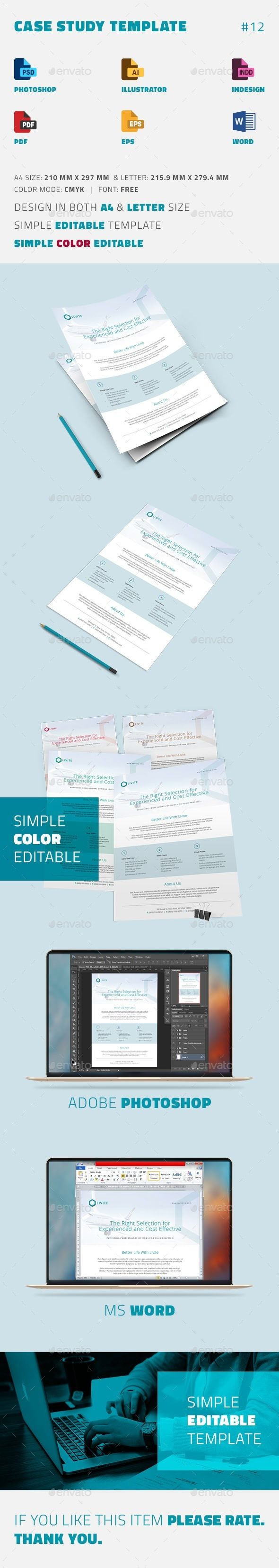 Case Study Template  Newsletter Templates Print Templates And