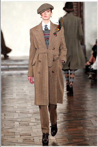 Ralph Lauren AW12 inspired by Downton Abbey