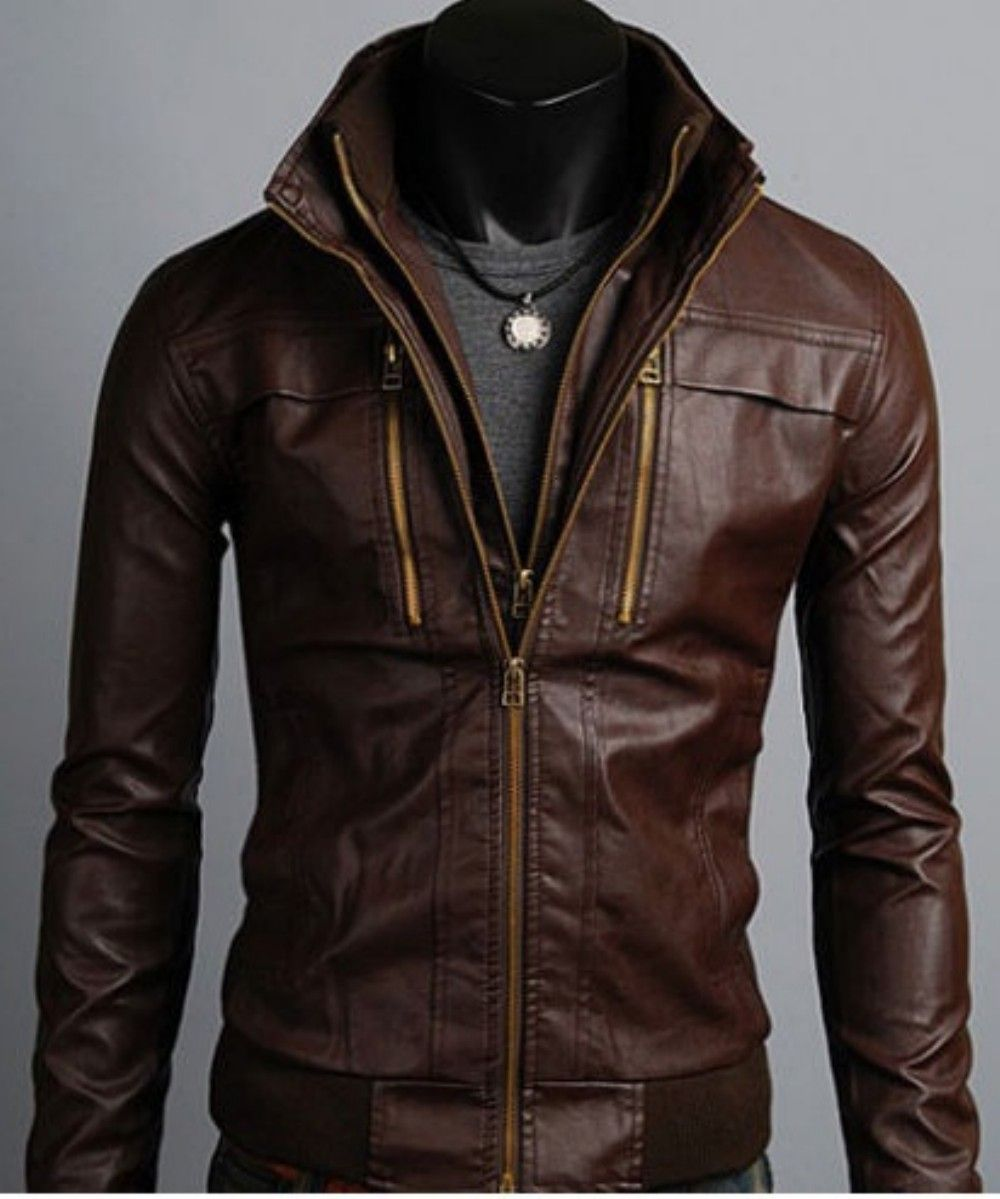 35 Fashionable Spring Men Outfits With A Leather Jacket | Man ...