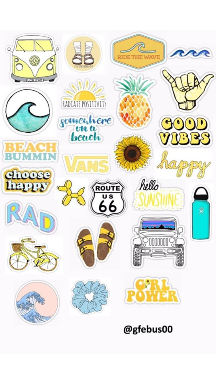 image relating to Vsco Stickers Printable identified as gabriela.febus sticker template stickers ✰ in just 2019