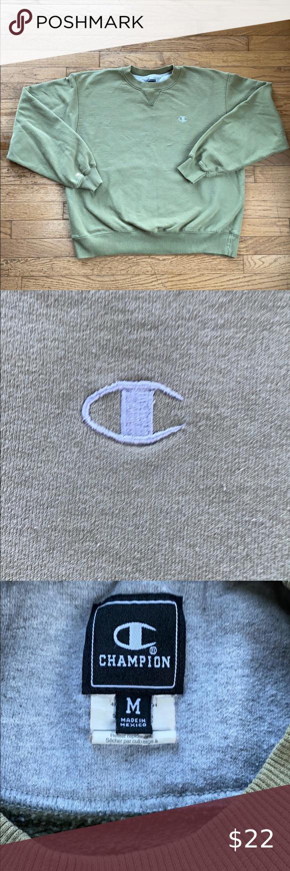 Champion Crewneck Sweatshirt Size Medium Champion Crewneck Sweatshirt Crew Neck Sweatshirt Clothes Design [ 1740 x 580 Pixel ]