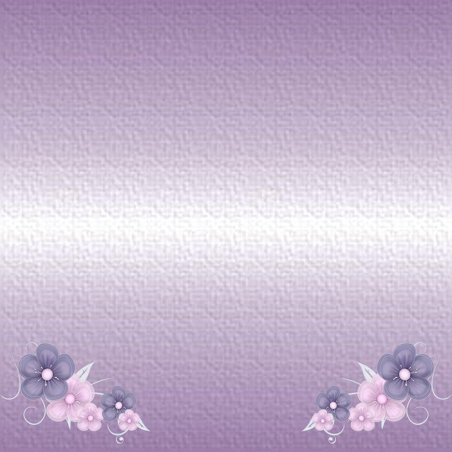 Purple Flower Background By