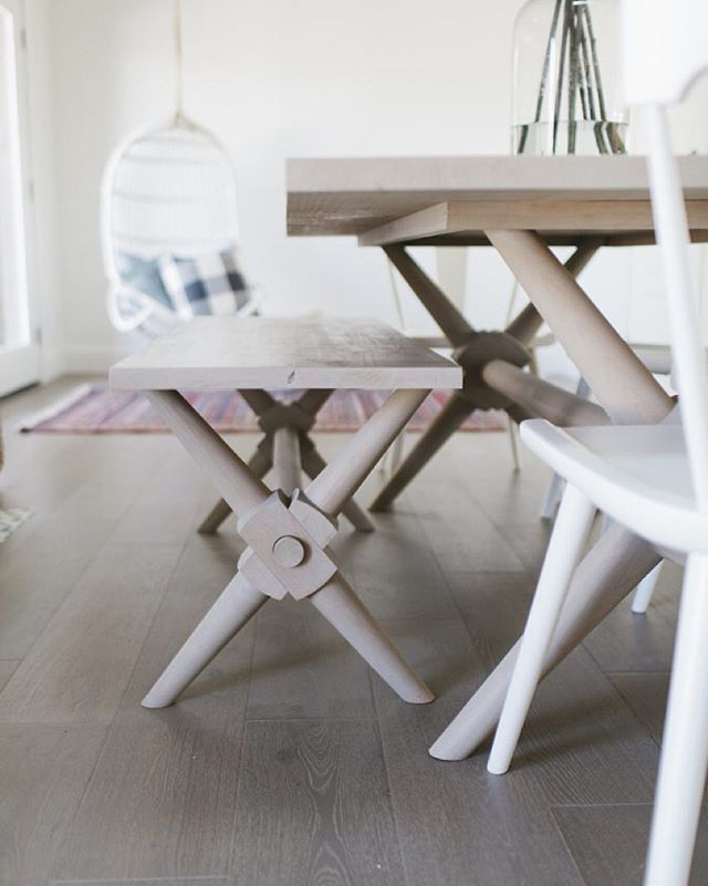 Fun little details on this table and bench we had custom designed and made for the #centervilleresidence  :: @_beckykimball