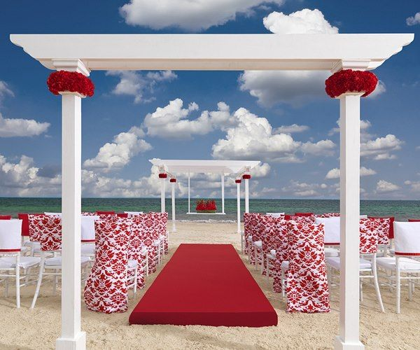 Red Beach Wedding A Beauty By Colin Cowie Via I Just Said Yes On Facebook