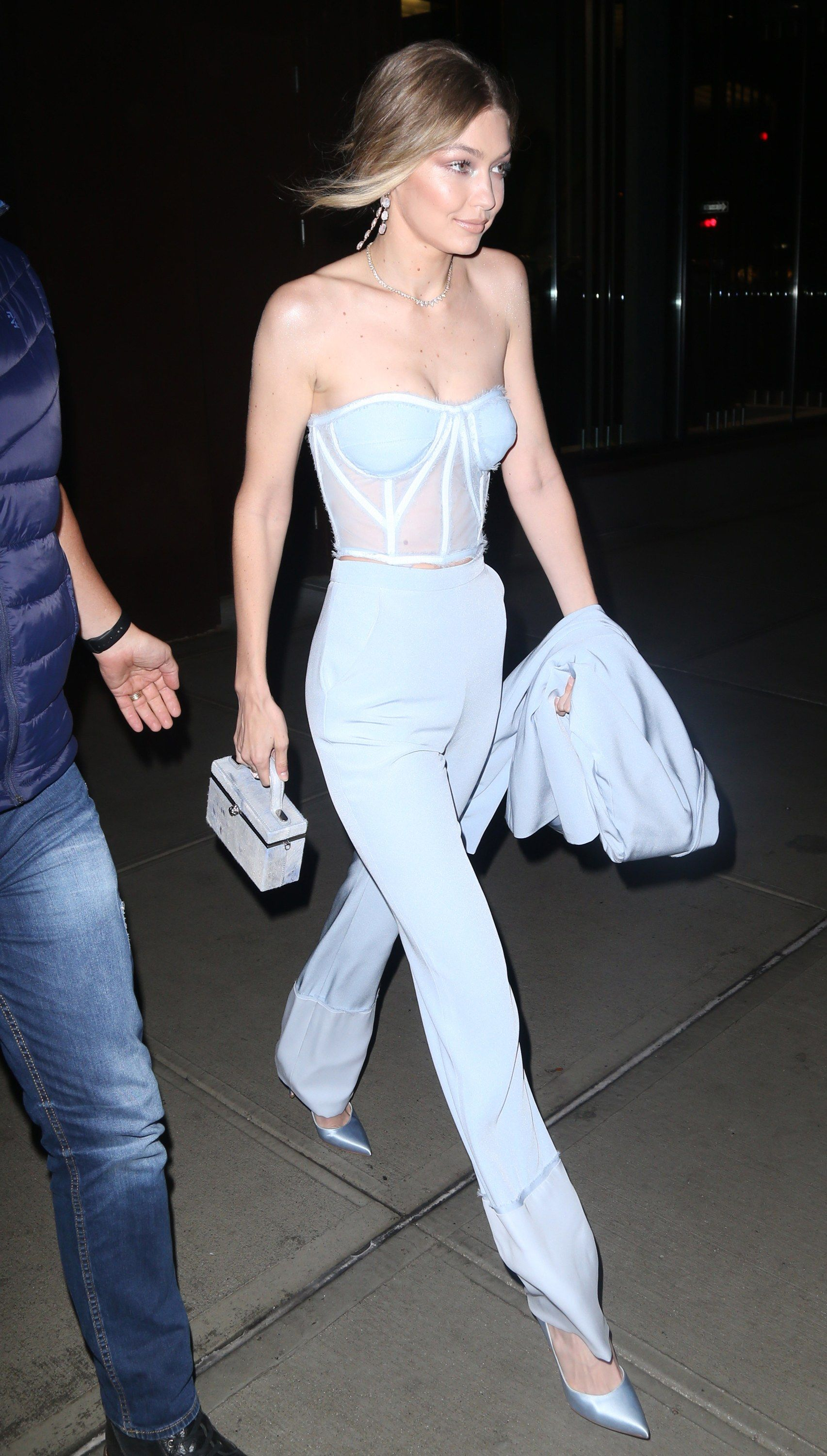 125f959a4824 Gigi Hadid Swaps Out Millennial Pink for Baby Blue