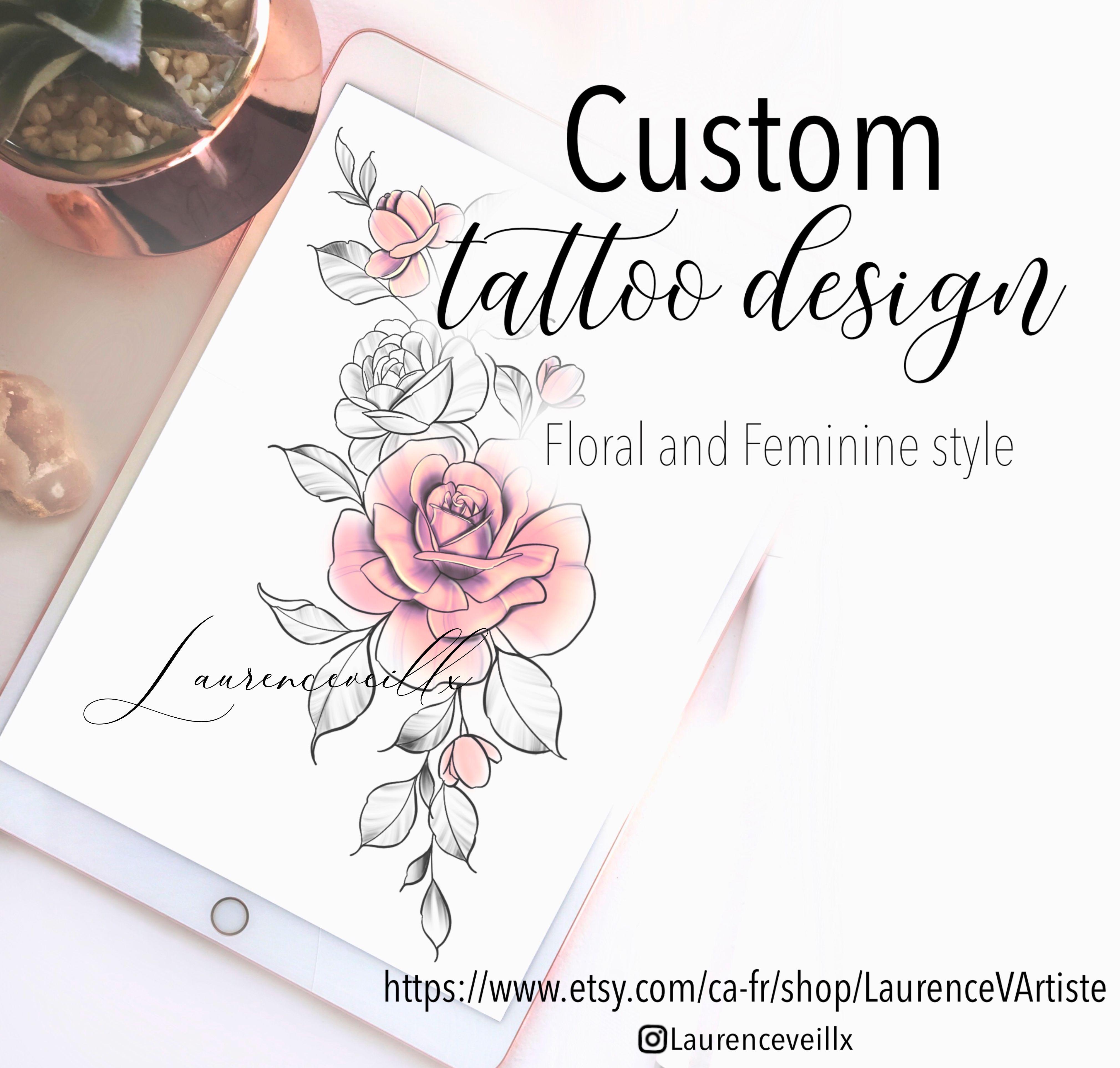 Custom Tattoo Design Custom Digital Tattoo Design Etsy Tattoo Designs Custom Tattoo Design Custom Tattoo