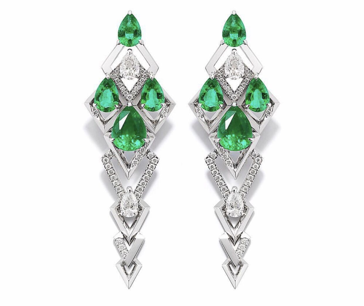 Pin By Lewnidas Karantakos On Diamantia Emerald Earrings Drop