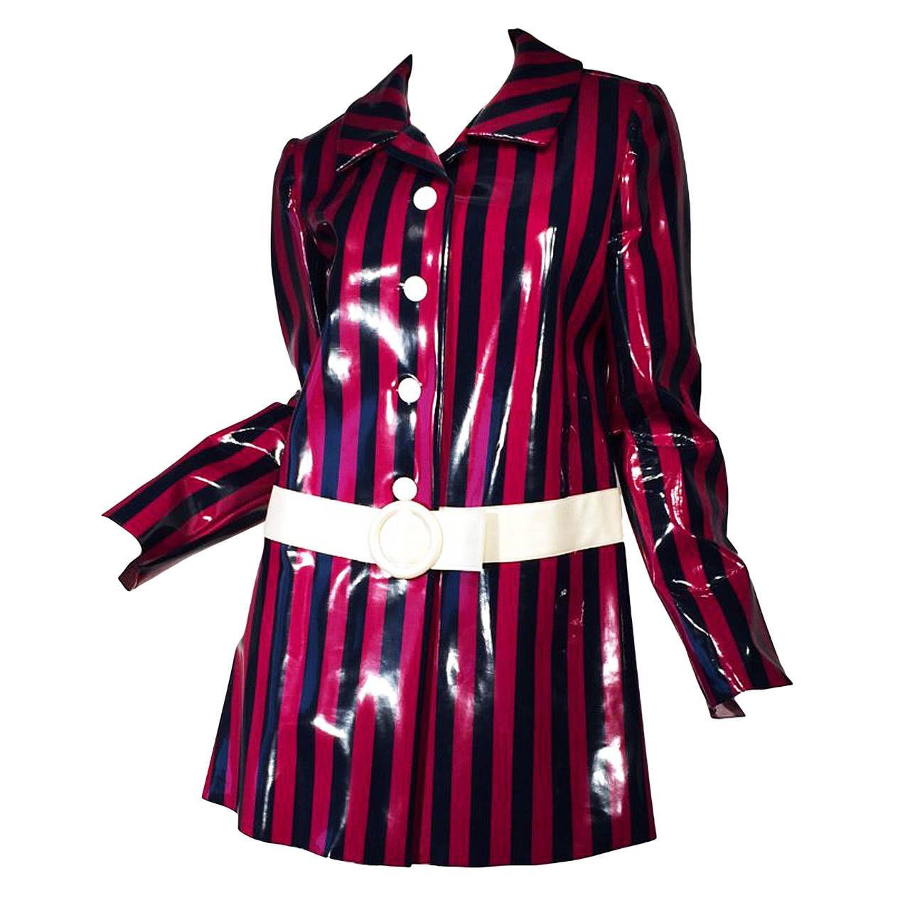 Mary Quant slicker coat as worn by Joan Collins, 60s