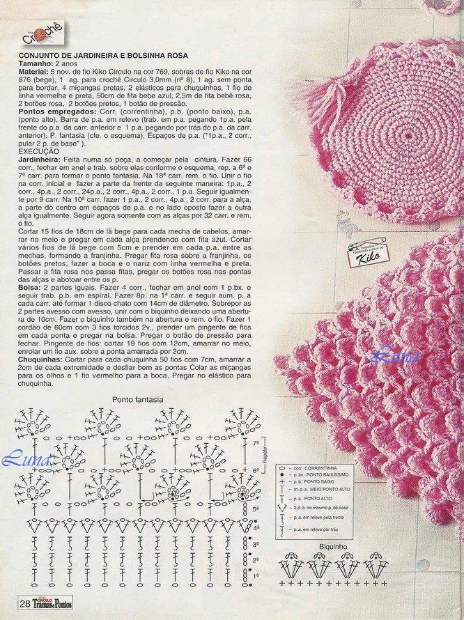 My Crochet , Mis Tejidos by Luna: Bebe - patron para la niña linda ...