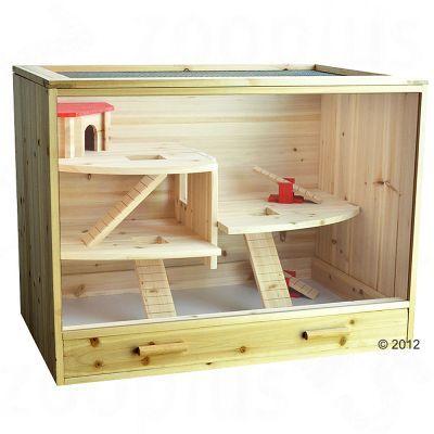 loft wooden cage 60 x 50 x 80 cm l x w x h gerbil stuff pinterest hamster cages cage. Black Bedroom Furniture Sets. Home Design Ideas