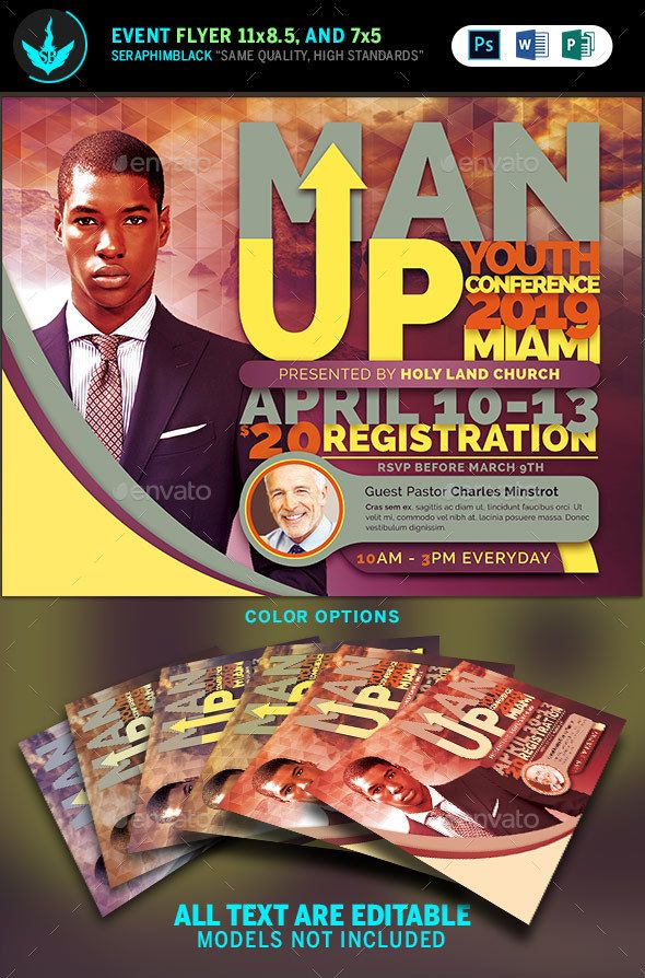 Man Up #Church #Conference #Flyer Template - Church Flyers | Flyer ...