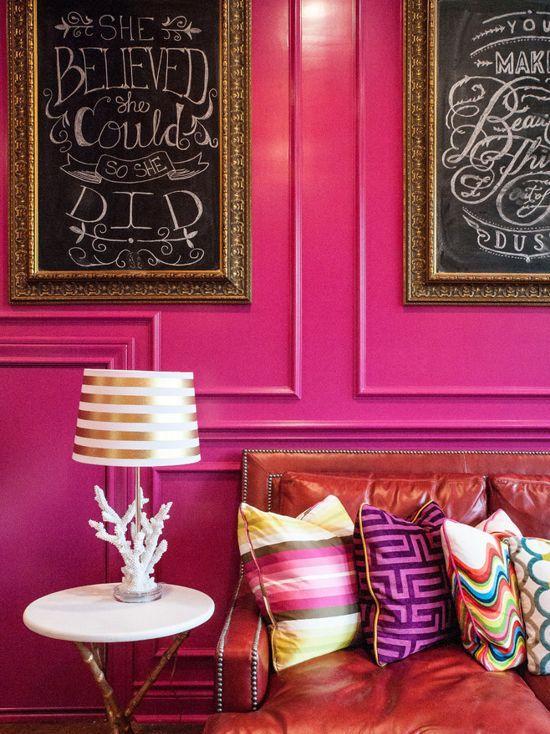 Looking for bedroom paint inspiration? Benjamin Moore Crushed Berries Pink Color Scheme Living ...