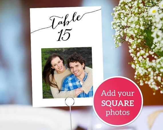 1-40 Photo Table Number Cards with Photos, Fun Wedding Couples Photo - Download Numbers Spreadsheet For Mac