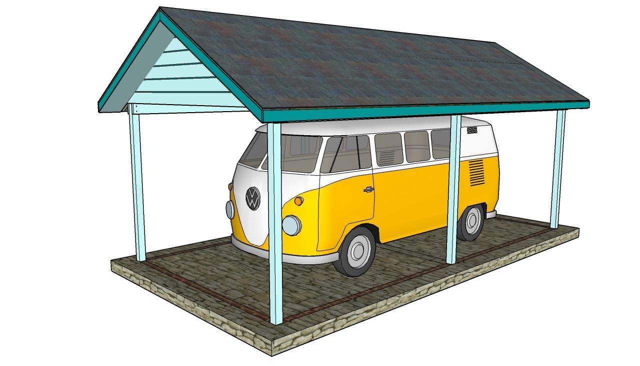 DIY Carport Plans Dessins carport, Abri voiture diy