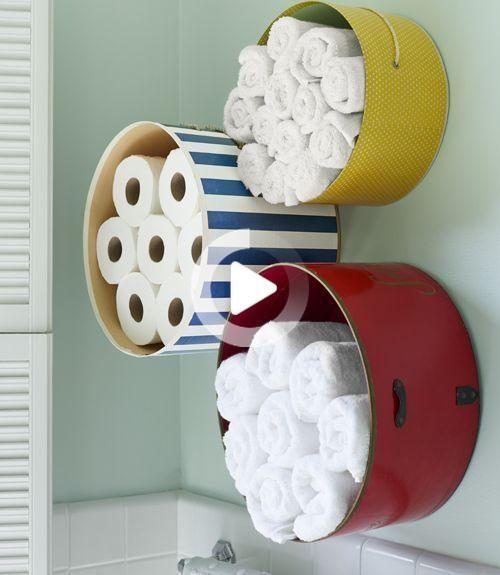 Photo of 18 idées de rangement de serviettes de bricolage pour organiser facilement la salle de bain