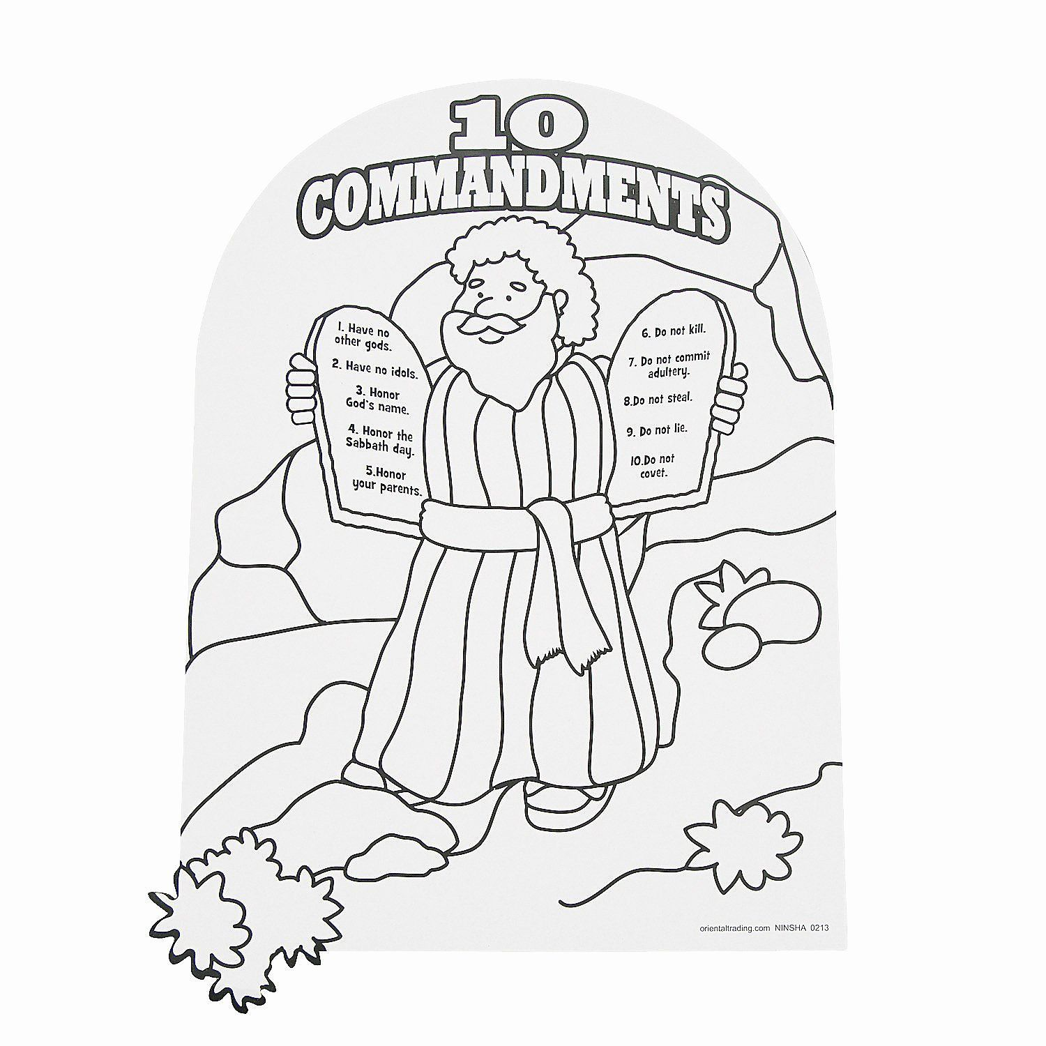 Ten Commandments Coloring Page Lovely Color Your Own Moses
