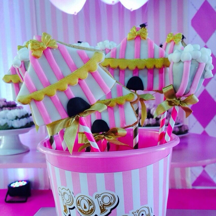 Sugar cookies Circus party Circo rosa | festas circo | Pinterest ...