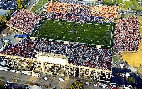 University of Tulsa Golden Hurricane - aerial view of ...