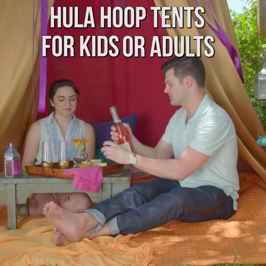 Diy hula hoop tent for kids or adults handmade diy pinterest diy hula hoop tent for kids or adults solutioingenieria Image collections
