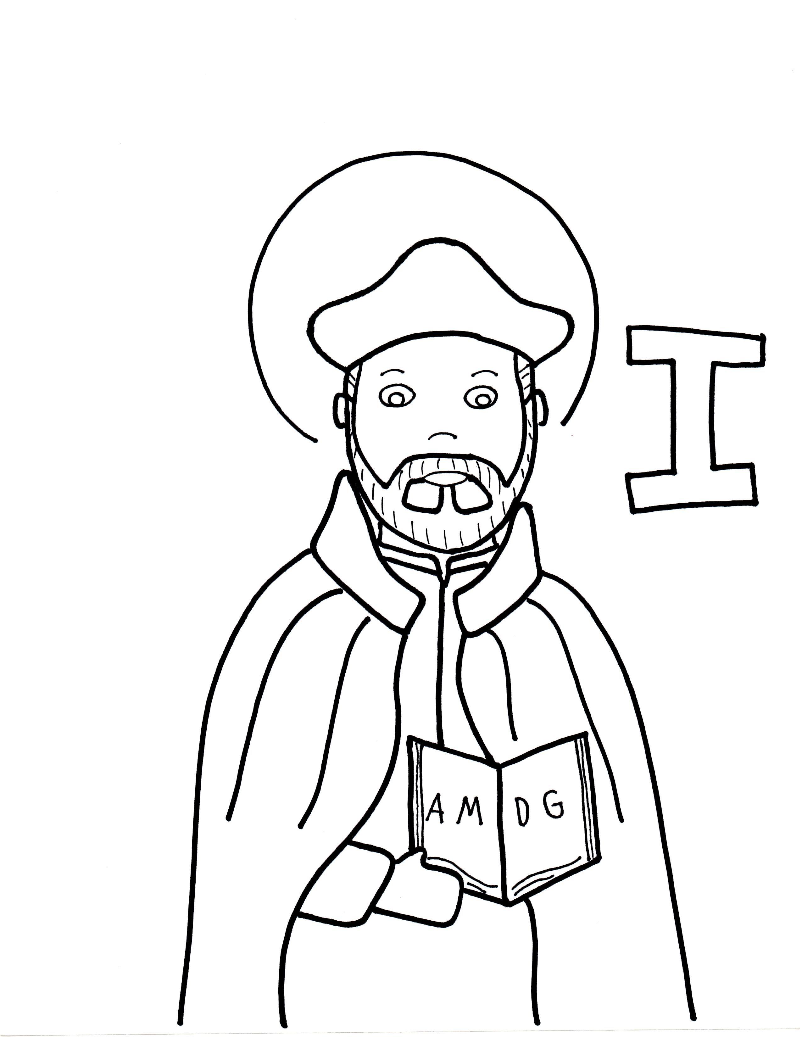 I Is For St Ignatius Loyola Coloring Pages St Ignatius