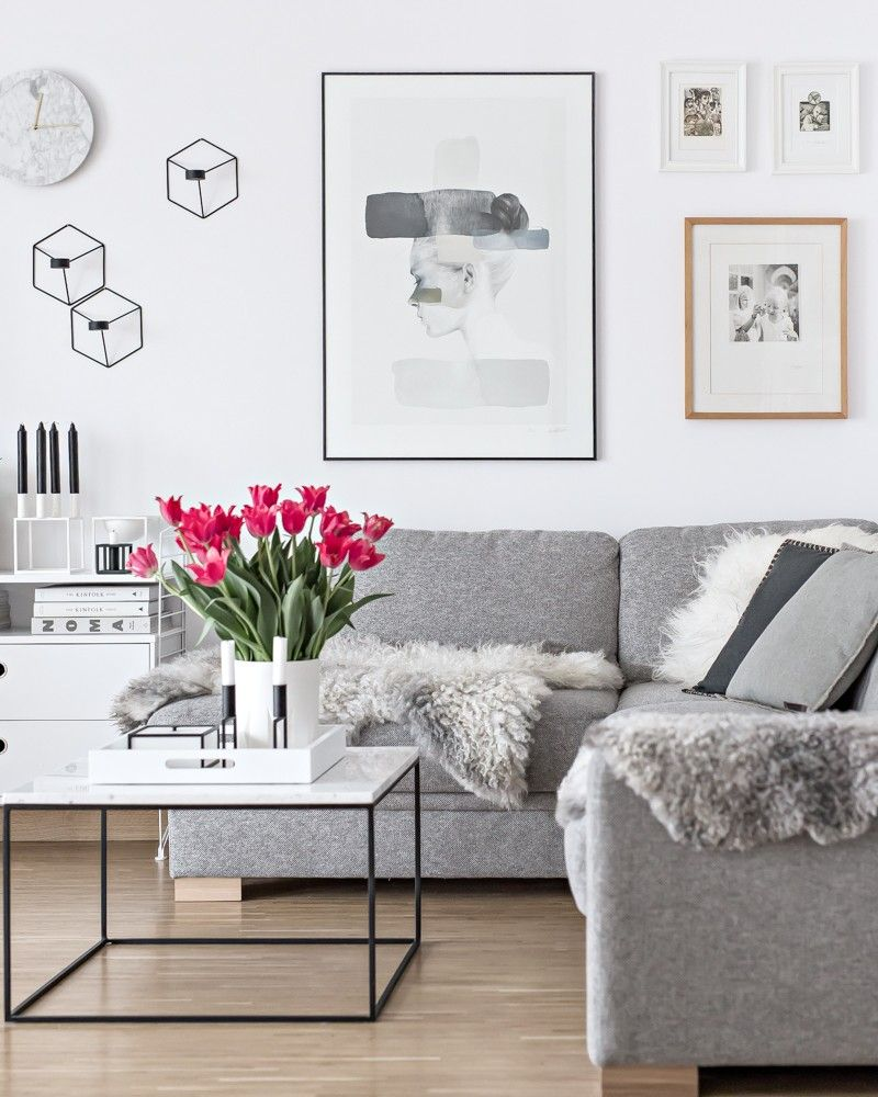 New Poster In The Living Room My Full House Minimal Living Room Monochrome Living Room Small Living Rooms